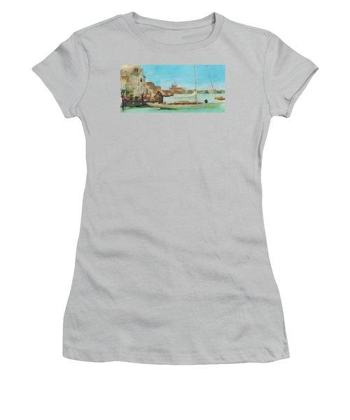 Venetian Canal Women's T-Shirt (Junior Cut) by Sergey Lukashin