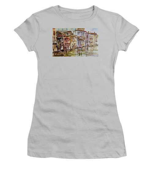 Women's T-Shirt (Junior Cut) featuring the painting Venice Impression II by Xueling Zou