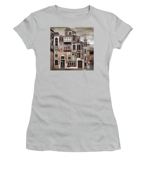 Venice Reconstruction 2 Women's T-Shirt (Junior Cut) by Joan Ladendorf