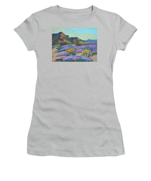 Women's T-Shirt (Junior Cut) featuring the painting Verbena And Spring by Diane McClary
