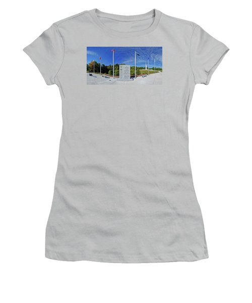 Veterans Freedom Park, Cary Nc. Women's T-Shirt (Junior Cut) by George Randy Bass