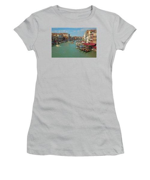 View From Rialto Bridge Women's T-Shirt (Junior Cut) by Sharon Jones