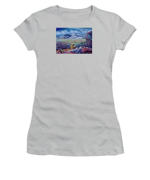 Women's T-Shirt (Junior Cut) featuring the painting View South From Cedar Breaks by Dawn Senior-Trask