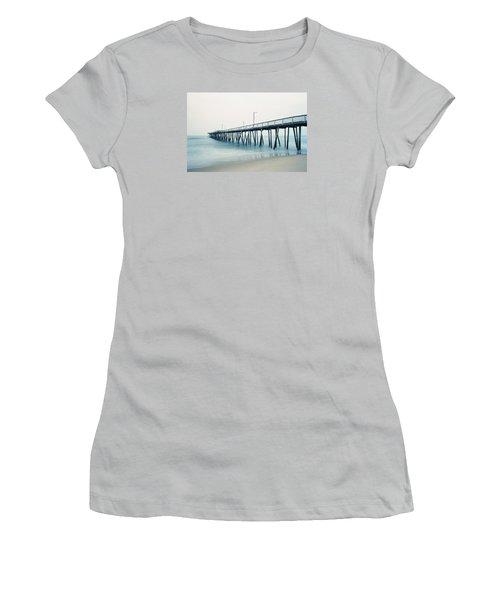 Virginia Beach Fishing Pier Women's T-Shirt (Junior Cut) by Scott Meyer