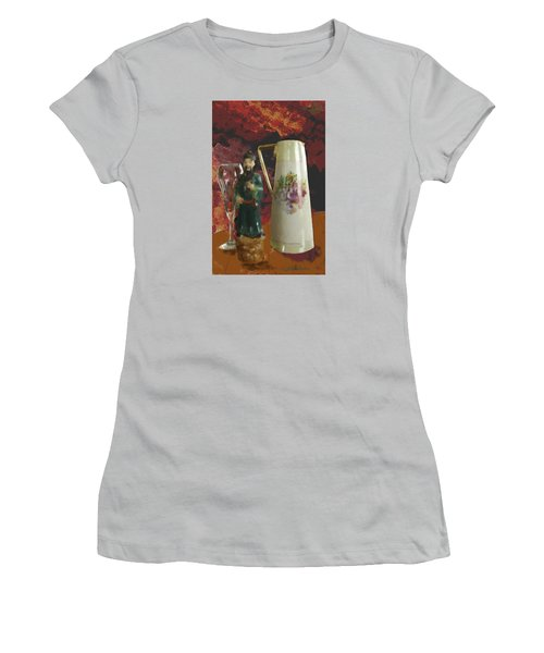 Women's T-Shirt (Junior Cut) featuring the digital art Waiting by Dale Stillman