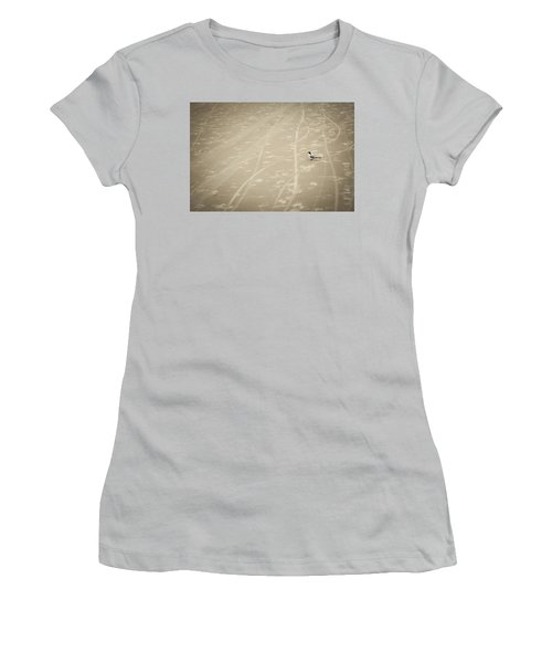 Women's T-Shirt (Junior Cut) featuring the photograph Waiting My Turn by Carolyn Marshall