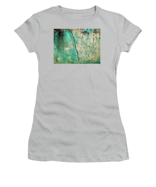 Women's T-Shirt (Junior Cut) featuring the photograph Wall Abstract 97 by Maria Huntley