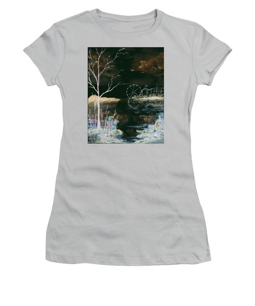 Watching The World Go Round Inverted Women's T-Shirt (Athletic Fit)