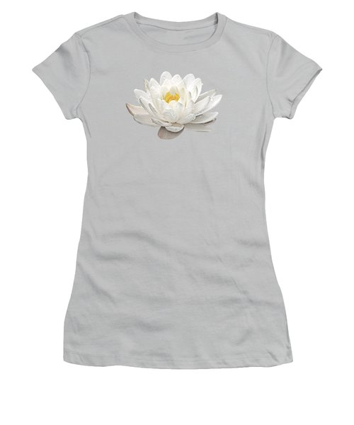 Water Lily Whirlpool Women's T-Shirt (Junior Cut) by Gill Billington