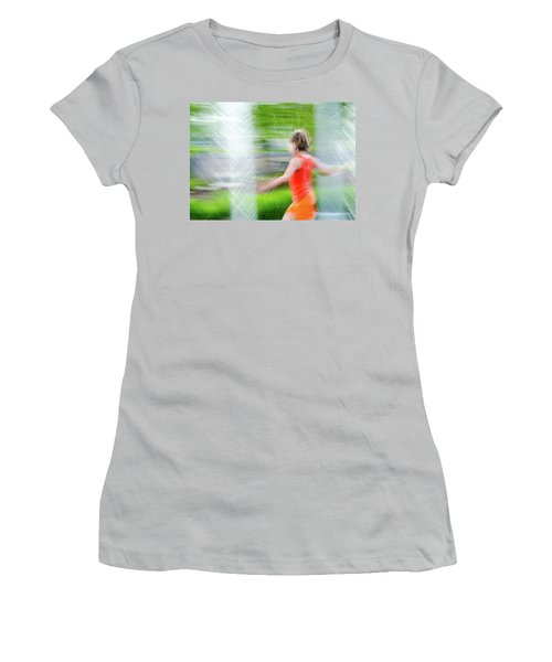 Water Park In The Summer Women's T-Shirt (Athletic Fit)