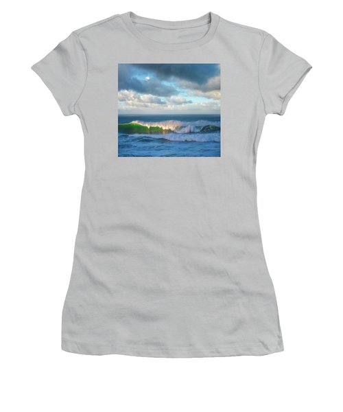 Women's T-Shirt (Junior Cut) featuring the photograph Wave Length by Darren White