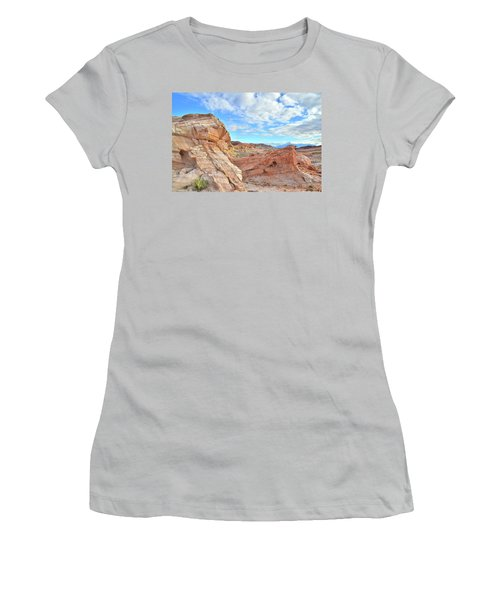 Waves Of Sandstone In Valley Of Fire Women's T-Shirt (Junior Cut) by Ray Mathis