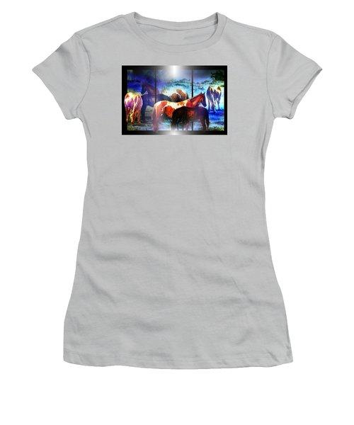What  Horses Dream Women's T-Shirt (Junior Cut) by Hartmut Jager