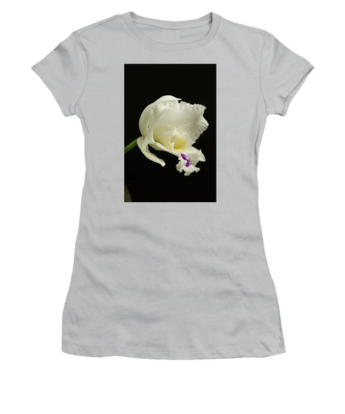 White Cattleya Orchid  Women's T-Shirt (Athletic Fit)