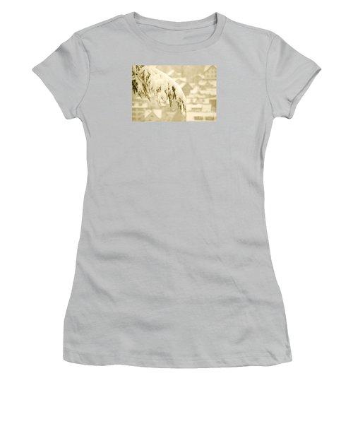 Women's T-Shirt (Junior Cut) featuring the photograph White Christmas - Winter In Switzerland by Susanne Van Hulst