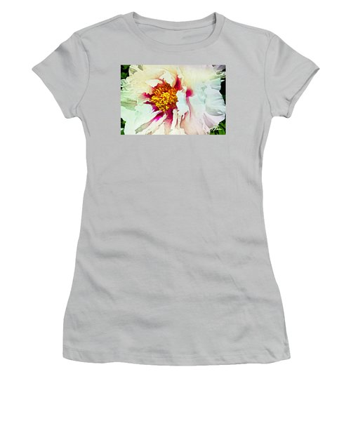 White Peony Women's T-Shirt (Junior Cut) by Joan Reese