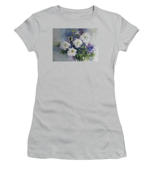 White Petunias Women's T-Shirt (Junior Cut)