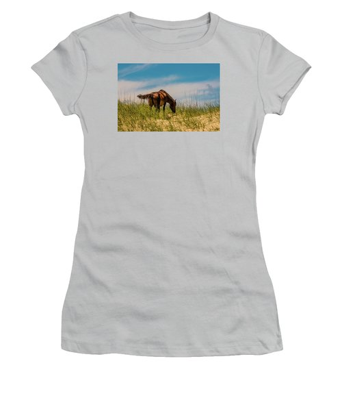 Wild Horse And Dragon Flies Women's T-Shirt (Athletic Fit)