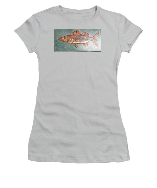 Willie The Walleye Women's T-Shirt (Athletic Fit)