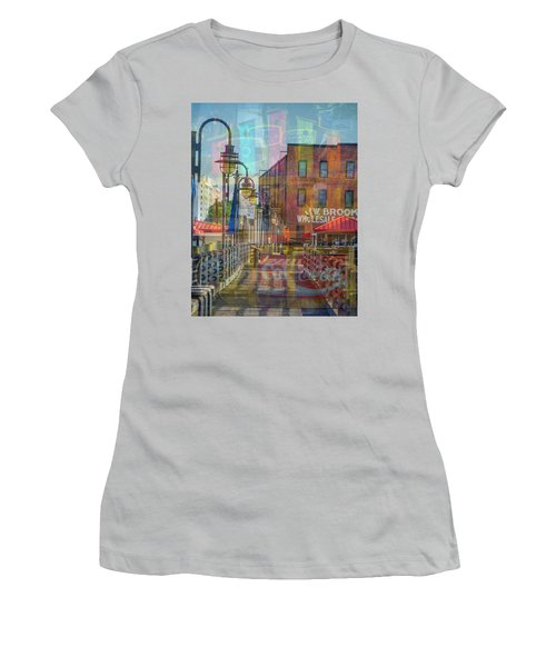 Wilmington North Carolina Riverfront Women's T-Shirt (Athletic Fit)