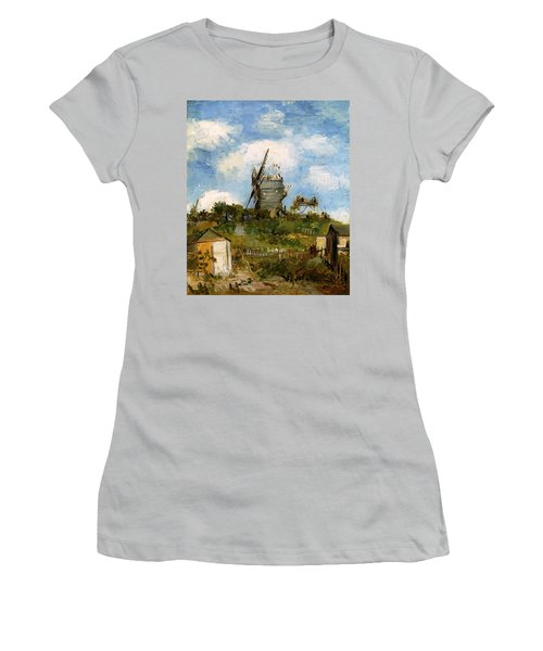 Windmill In Farm Women's T-Shirt (Athletic Fit)