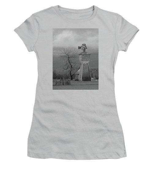 Windmill Of Old Women's T-Shirt (Junior Cut) by Suzy Piatt