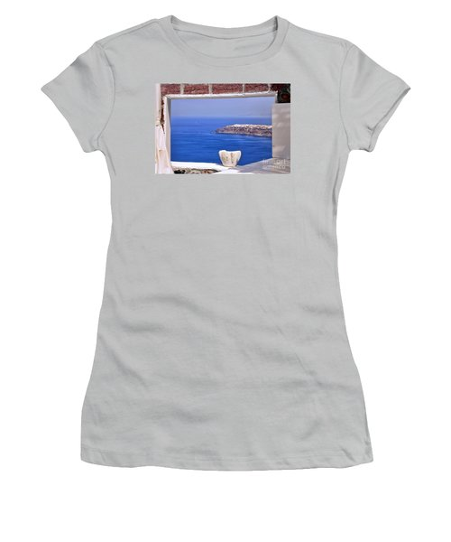 Window View To The Mediterranean Women's T-Shirt (Athletic Fit)