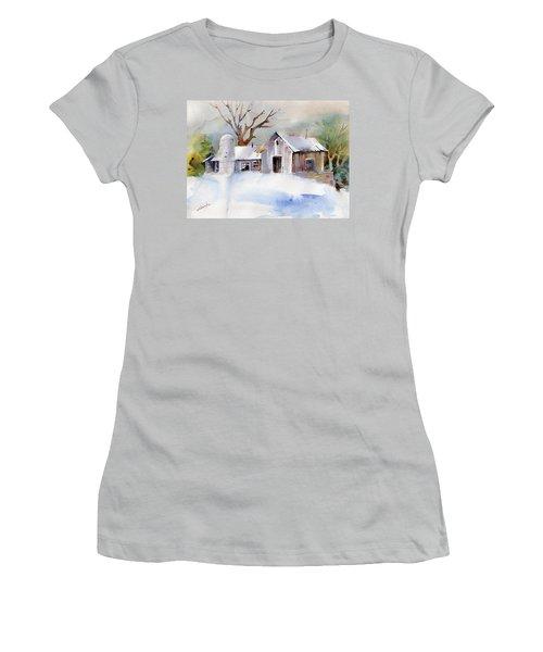 Winter Barn Women's T-Shirt (Junior Cut) by P Anthony Visco