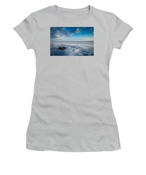 Winter Beach Women's T-Shirt (Athletic Fit)