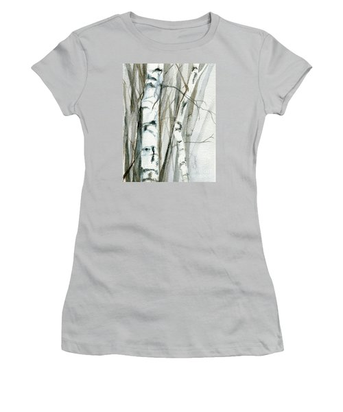 Winter Birch Women's T-Shirt (Junior Cut) by Laurie Rohner
