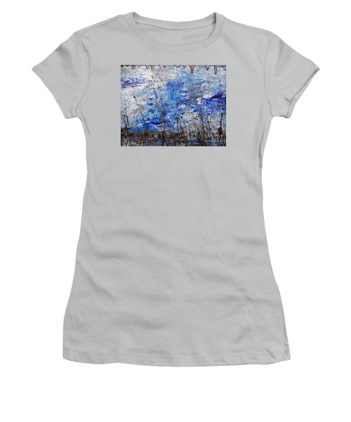 Women's T-Shirt (Junior Cut) featuring the painting Winter Crisp by Jacqueline Athmann