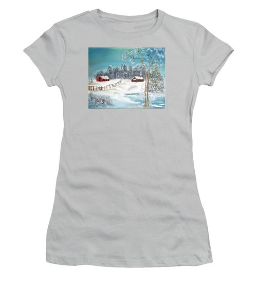 Winter Farm Women's T-Shirt (Athletic Fit)