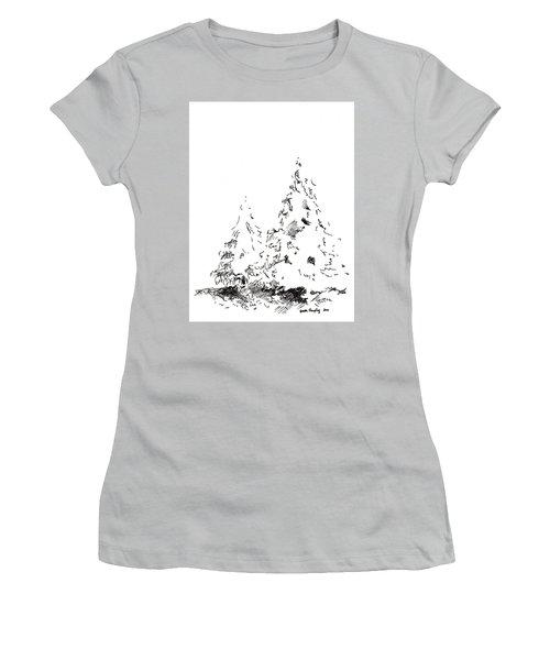Winter Trees 1 - 2016 Women's T-Shirt (Junior Cut) by Joseph A Langley
