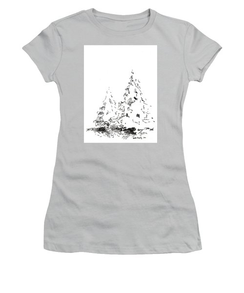 Winter Trees 1 - 2016 Women's T-Shirt (Athletic Fit)