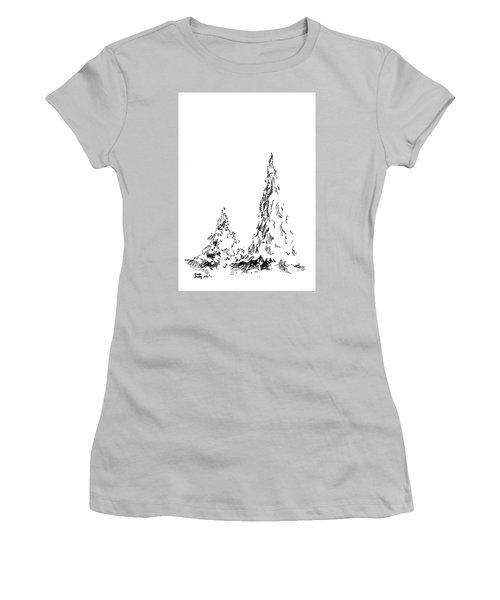 Winter Trees 2 - 2016 Women's T-Shirt (Junior Cut) by Joseph A Langley