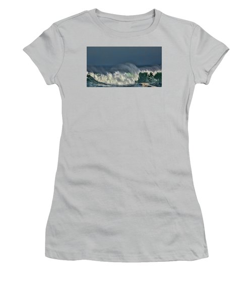 Winter Waves And Veil Women's T-Shirt (Junior Cut) by Shirley Mangini