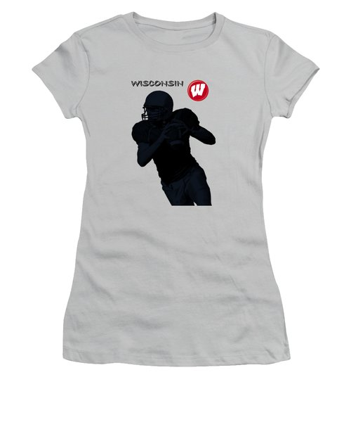 Wisconsin Football Women's T-Shirt (Athletic Fit)