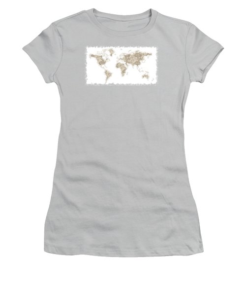 World Map Women's T-Shirt (Junior Cut) by Anton Kalinichev