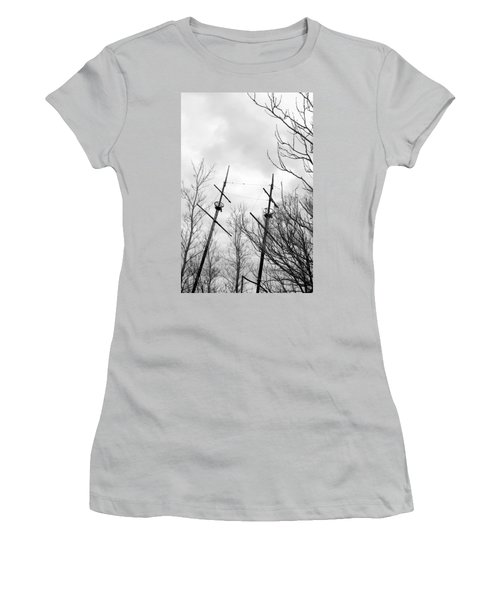 Women's T-Shirt (Junior Cut) featuring the photograph Wrecked by Valentino Visentini