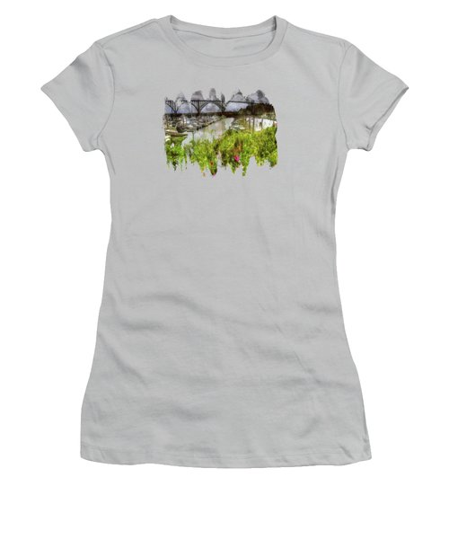 Yaquina Bay Roses Women's T-Shirt (Athletic Fit)