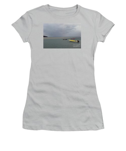 Women's T-Shirt (Athletic Fit) featuring the photograph Yellow Boat by Gary Wonning