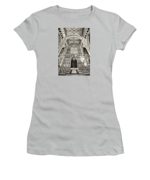 Women's T-Shirt (Junior Cut) featuring the photograph York Minster Uk by Jack Torcello