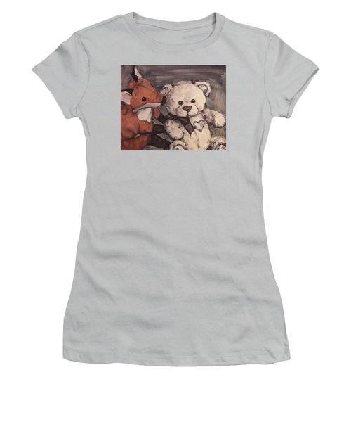 Women's T-Shirt (Junior Cut) featuring the painting You Should Not Trust Her by Olimpia - Hinamatsuri Barbu