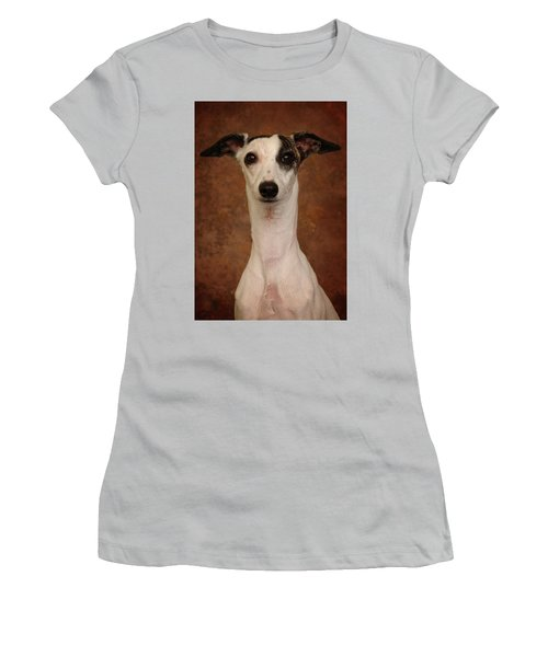 Women's T-Shirt (Junior Cut) featuring the photograph Young Whippet by Greg Mimbs