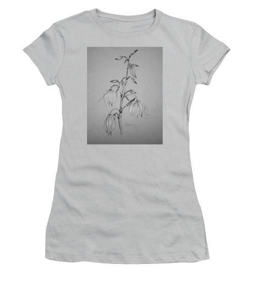 Women's T-Shirt (Junior Cut) featuring the drawing Yucca by Marna Edwards Flavell