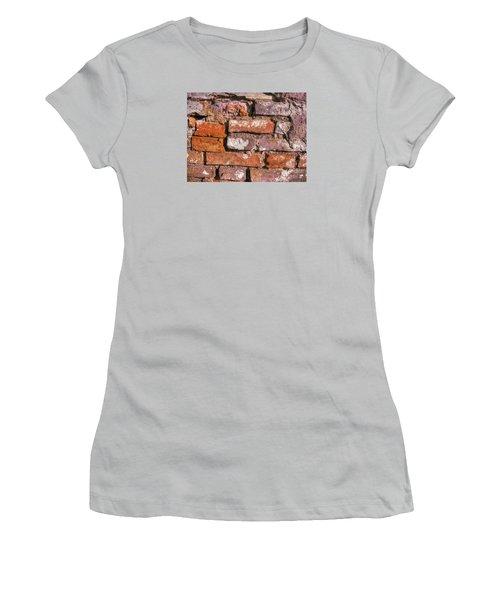 Women's T-Shirt (Junior Cut) featuring the pyrography Yury Bashkin Old Wall by Yury Bashkin