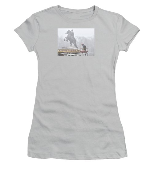 Yury Bashkin The Fog Street Peterburg Women's T-Shirt (Athletic Fit)