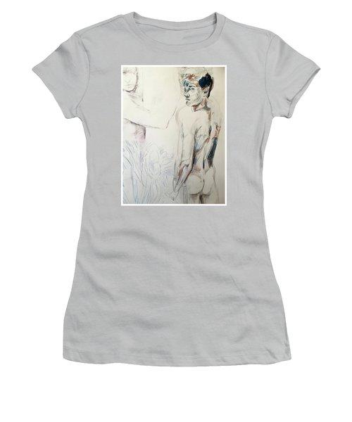 Zebra Boy Sketch 2017 Women's T-Shirt (Athletic Fit)