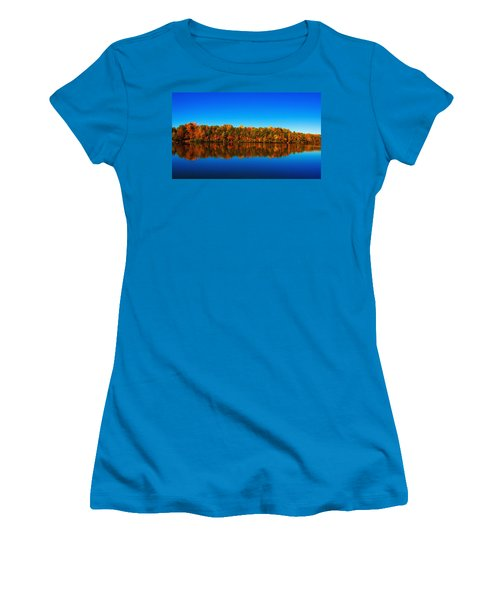 Women's T-Shirt (Junior Cut) featuring the photograph Autumn Reflections by Andy Lawless
