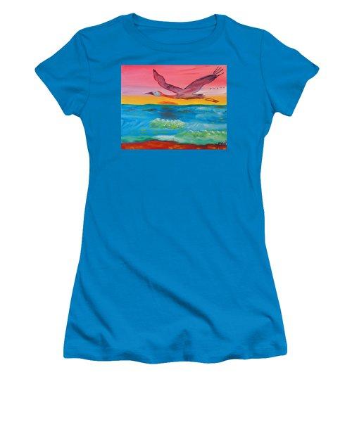 Flying Free Women's T-Shirt (Junior Cut) by Meryl Goudey
